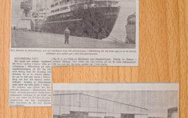 M/s Asmara lossa plåt ifrån Japan för VOLVO PV:s räkning. 1970