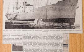 M/s Thai är det första fartyget som lastar p-massa på den nybyggda kajen till Sydamerika. 1964